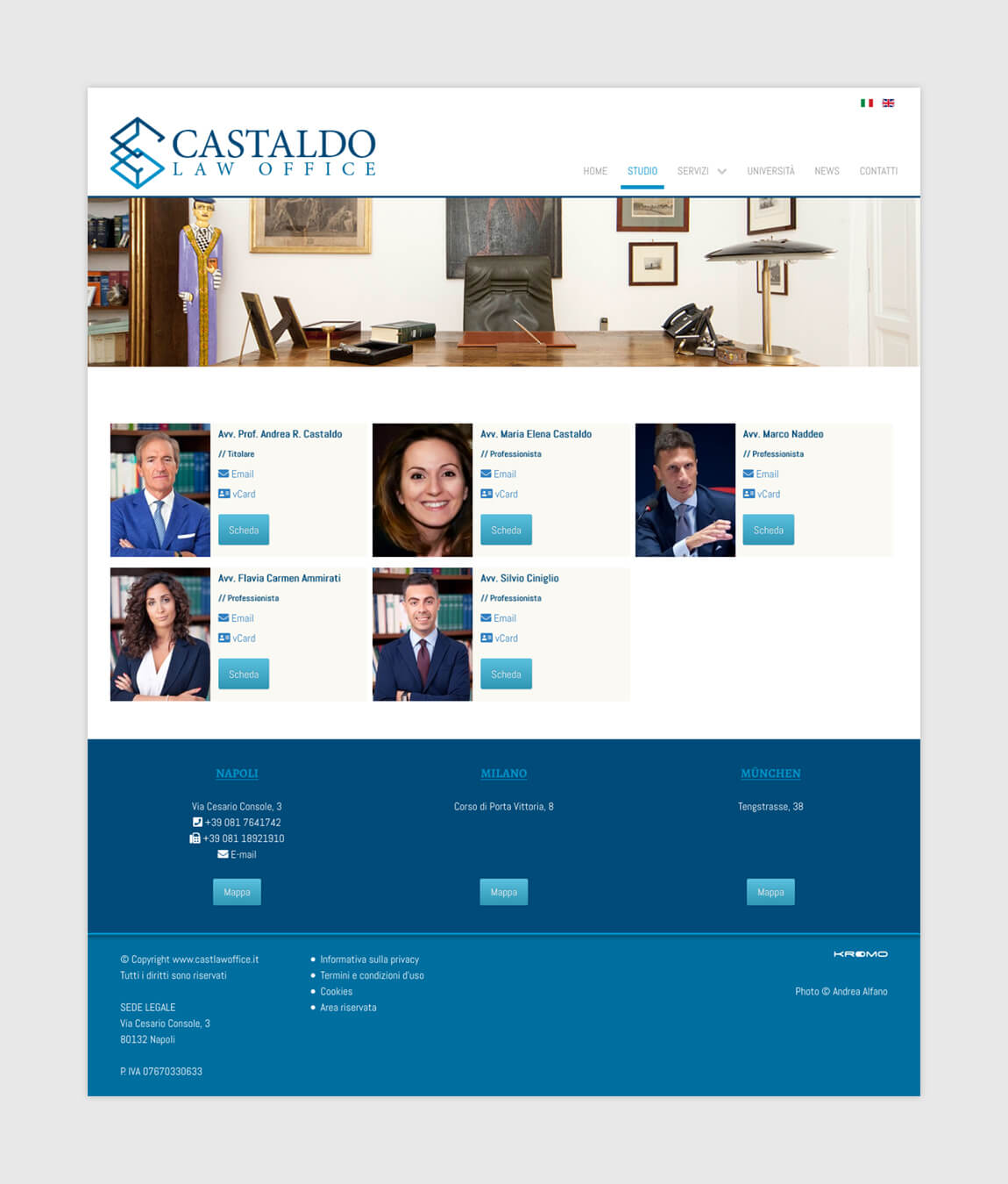 Castaldo Law Office - Studio Page